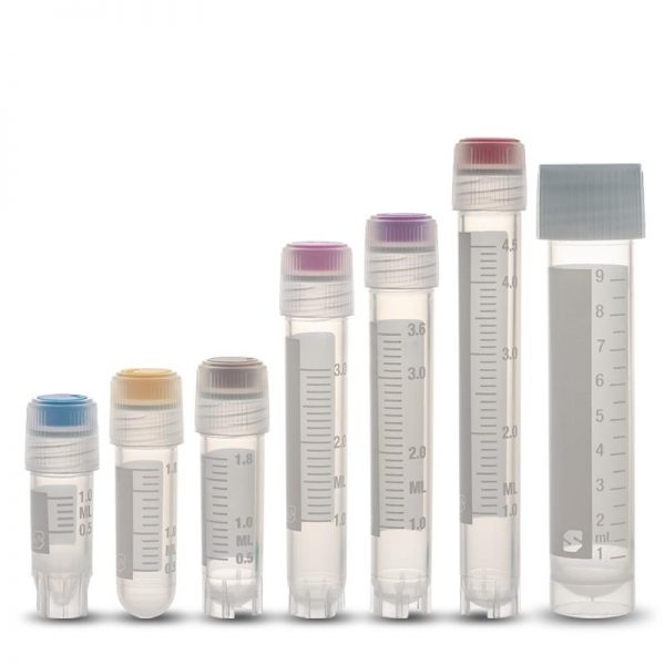 test tube with colored cap